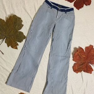 NO BOUNDARIES Striped Flare Jeans